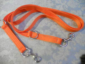 6ft strong Police type double clip training lead working security dog handler