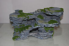 Aquarium Detailed Large Rock Mountain & Moss Effect Ornaments 30 x 18 x 15 cms