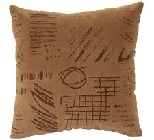"""Beautiful Abstract Print Brown Suede Cushion Cover Pillow for Sofa Bed 16"""" X 16"""""""