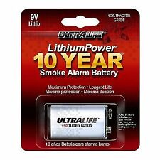 Ultralife 9v Lithium Smoke Alarm Battery