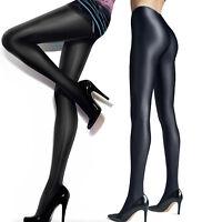 GATTA GLOSSY SHINY SATIN  BLACK BRILLANT OPAQUE SUPER STRONG TIGHTS