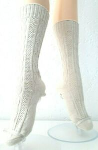 Uniform & Country Socks Braid Pattern,Cotton,Natural,Gr.35-38