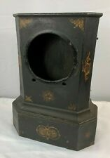 Antique Cast Iron Clock Case / Shell with wood back