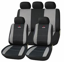 11 Pieces Of Automotive Car Universal Seat Covers Set Protection Black And Gray