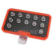 Vw VAG Locking Wheel Nuts Stud 12pc Socket Set Multi Ribe Spline VW Master Kit