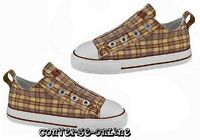 KID Boy Girl CONVERSE All Star LACELESS SLIP ON PLAID Trainers Shoe 25 UK SIZE 9