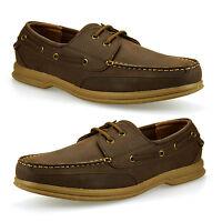 Mens Casual Smart Lace Up Boat Deck Designer Comfort Walking Driving Shoes Size