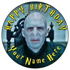 "HARRY POTTER LORD VOLDEMORT - 7.5"" PERSONALISED ROUND EDIBLE ICING CAKE TOPPER"
