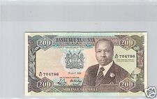 KENYA 200 SHILLINGS 1988 N° 704786 PICK 23A C QUALITE !!!!