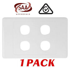 1 x 4 Gang Wall Plate - Electrical Wallplate Empty Switch plate - SAA
