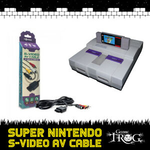 Super Nintendo SNES - S-VIDEO AV / RCA Cable - High-Definition - Stereo / Video