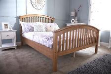 Madrid 5ft King Size HIGH FOOT END Wooden Bedstead - Oak