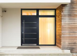 Türe Tür  Aluminium Stahl Haustür 68mm Stärke  ACM02 Briefkasten