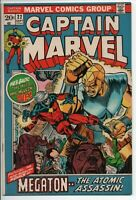 "Marvel Comics Captain Marvel #22 Sept. 1970 VF- ""Megaton"" Movie coming!"