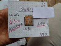 CANADA QUEEN VIC ROSE  CARMINE STAMP G.U. to F.U.  S.G 84