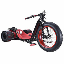 RED Big 3 Wheel Drift Trike Bike Go Kart Cart ScooterX Race Drifter 25mph 2.5hp