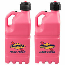 2 Pack Sunoco Racing Pink 5 Gallon Race Gas Alcohol Diesel Can Fuel Jug