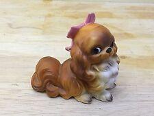 Josef Originals Shih Tzu Dog Pink bow in Hair Figurine