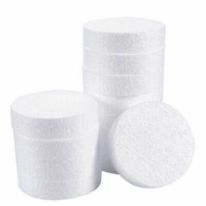Craft Foam Circle, 12-Pack Polystyrene Disc Foam Round for Sculpture, 4 x 4 x 1""