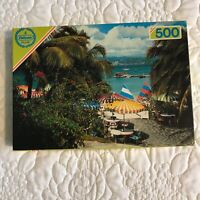 Used vintage Falcon - 500 Piece Jigsaw Puzzle - parasols and sailboards.