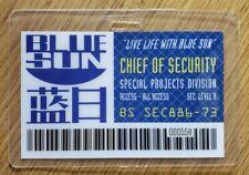 Serenite / Firefly' Id Badge-Blue Soleil Chef De Sécurité Cosplay Costume Prop