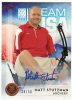 2016 Topps US Olympic Team USA Hopefuls Autograph Bronze AUTO /50 Matt Stutzman