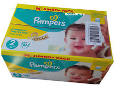 Jumbo Box Of 86 Pampers Disposable Nappies Size 2 (3-6 Kg)