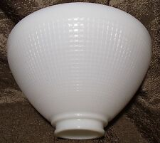 Milk Glass IES Reflector Lamp Shade White 2 7/8 X 10 Floor Table Pendant Waffle