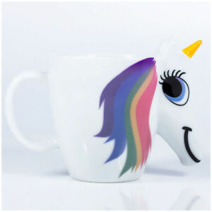 UNICORN UNIHORN CERAMIC COLOUR CHANGING MUG COFFEE CUP FOR HER ThumbsUp - UK