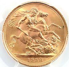 1958 Gold Sovereign PCGS MS65+ PlusGreat Britain  UK