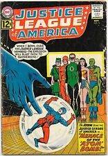 Justice League of America #14, DC Comics 1962 Fox/Sekowsky Atom joins JLA VG-