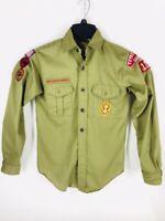 Vintage Boy Scout Shirt Brown w/Patches & Pants