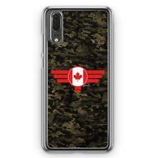 Huawei P20 Hard Cover Hülle Canada Kanada Camouflage Motiv Design Militär Milit