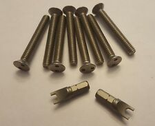 "Security screws for Center Line Wheels center cap 2"" with key - Four wheels"
