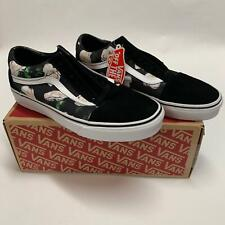 Vans Authentic Old Skool Romantic Floral Black White Sz 13 Mens / 14.5 Womens