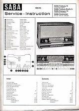 Service Manual Manual for Saba Freiburg 14,Breisgau 14,Continental