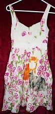 Eloise Dress size 2 sleeveless floral print Cat kitty pink womens