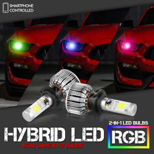 VIPMotoZ Ultimate Rainbow RGB LED H7 Headlights Bulbs Fog Lamps Conversion Kit