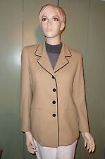 Talbots Petites Women's size 6 Preppy & Chic Blazer Camel with black trim- Lined