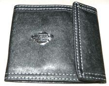 Ripiegare Portafoglio Nera in Pelle Morbida per monete, note & carte di credito + Immed POST