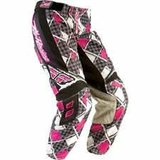 Fly Racing KINETIC youth girls motocross pants blk/pnk sz 20