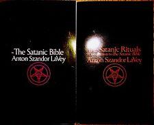 THE SATANIC BIBLE & SATANIC RITUALS books Anton LaVey satanism lot + FREE GIFTS!
