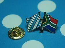 Freundschaftspin Bayern Südafrika Pin Button Badge Anstecknadel Anstecker Flag