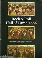 Rock Hall of Fame Program 2006 Black Sabbath Blondie Sex Pistols Miles Davis