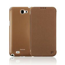Samsung Galaxy Note 2 II Flip Cover Slim Fit Leather Wallet Case [Brown] Feelook