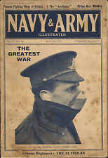 1915 WWI ~ BRITISH SOLDIER GAS MASK EAR PLUGS WEARING ~ MAGAZINE FRONT COVER