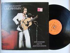 Paul Simon Live Rhymin 'Paul Simon in concert UK LP 1974 orig. CBS ORANGE