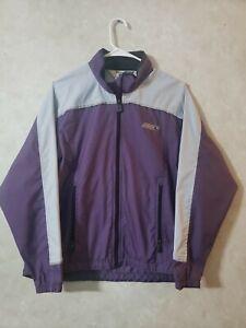 Sugoi Women Small Jacket 3M Scotchlite Purple Full Zip Reflective Cycling Vented