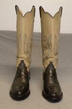 Vintage Justin Western Cowboy Tall Leather Riding Casual boots women's 6.5B Usa