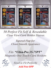 50 Perfect Fit Sleeves For Ultra Pro Magnetic Card Holders 35 55 75 PT Cases